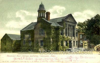 Memorial Hall Library Building - Lancaster, Massachusetts MA Postcard