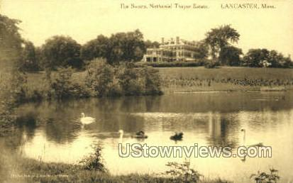 Nathaniel Thayer Estate - Lancaster, Massachusetts MA Postcard