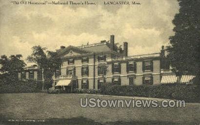 Nathaniel Thayer's House - Lancaster, Massachusetts MA Postcard