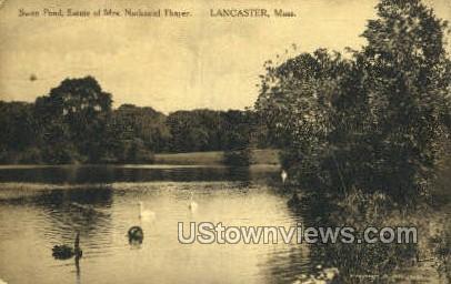 Estate of Mrs. Nathaniel Thayer - Lancaster, Massachusetts MA Postcard