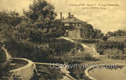 Mr. Bayard T. Thayer's Residence - Lancaster, Massachusetts MA Postcard