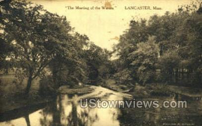 The Meetings of the Waters - Lancaster, Massachusetts MA Postcard