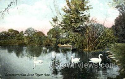 Swan-Thayer Pond - Lancaster, Massachusetts MA Postcard