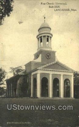 First Church - Lancaster, Massachusetts MA Postcard