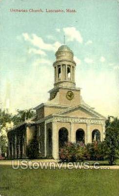 Unitarian Church - Lancaster, Massachusetts MA Postcard
