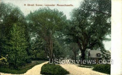 Street Scene - Lancaster, Massachusetts MA Postcard