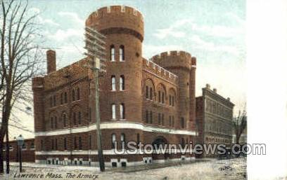 The Armory - Lawrence, Massachusetts MA Postcard