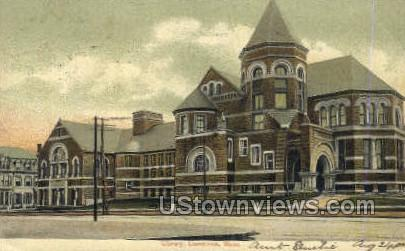 Library - Lawrence, Massachusetts MA Postcard
