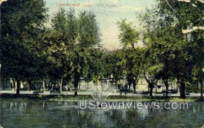 The Pond - Lawrence, Massachusetts MA Postcard