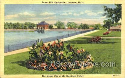 Tower Hill, Esplanade - Lawrence, Massachusetts MA Postcard
