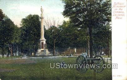 Soldiers Monument - Lawrence, Massachusetts MA Postcard