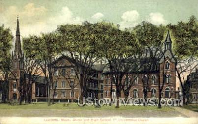 Oliver & High Sts. - Lawrence, Massachusetts MA Postcard