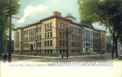 High School - Lawrence, Massachusetts MA Postcard