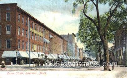 Essex St. - Lawrence, Massachusetts MA Postcard