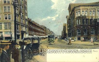 Essex St. - Lawrence, Massachusetts MA Postcard