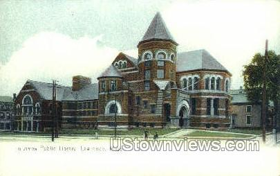 Public Library - Lawrence, Massachusetts MA Postcard