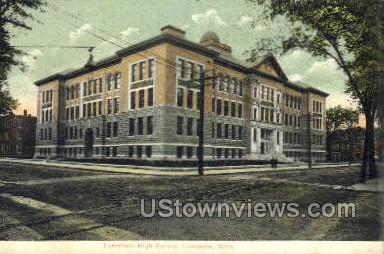 Lawrence High School - Massachusetts MA Postcard