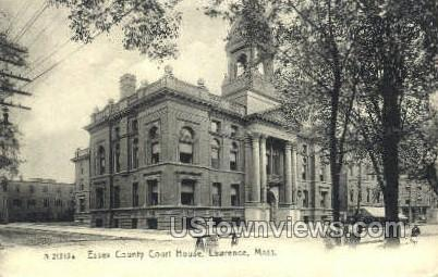 Essex County Court House - Lawrence, Massachusetts MA Postcard