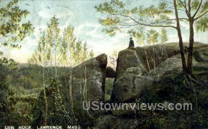 Den Rock - Lawrence, Massachusetts MA Postcard
