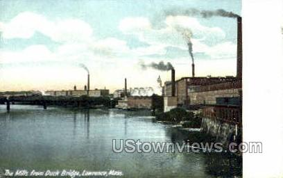 The Mills - Lawrence, Massachusetts MA Postcard