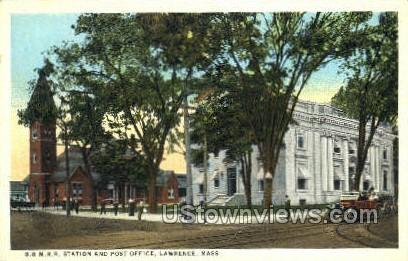 B. & M.R.R. Station - Lawrence, Massachusetts MA Postcard