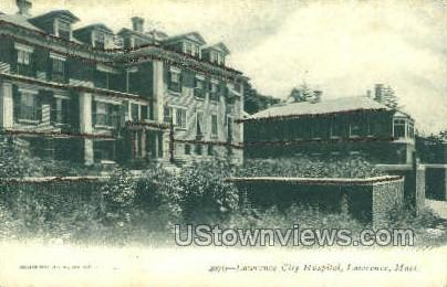 Lawrence City Hospital - Massachusetts MA Postcard