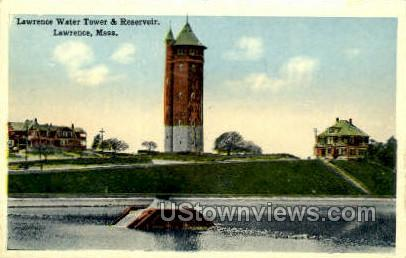 Lawrence Water Tower - Massachusetts MA Postcard