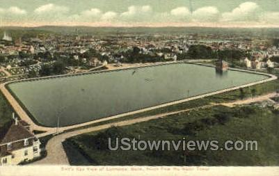 View from Water Tower - Lawrence, Massachusetts MA Postcard