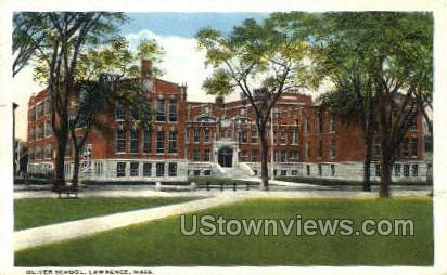 Oliver School - Lawrence, Massachusetts MA Postcard