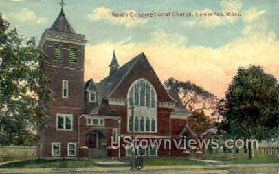 South Congregational Church - Lawrence, Massachusetts MA Postcard