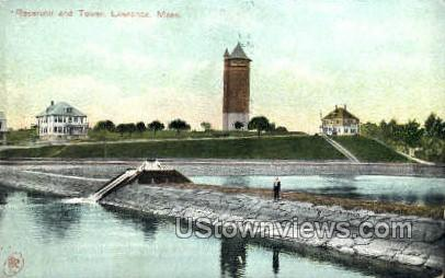 Reservoir & Tower - Lawrence, Massachusetts MA Postcard