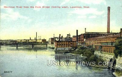 Marrimac River - Lawrence, Massachusetts MA Postcard