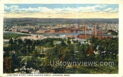 Water Tower - Lawrence, Massachusetts MA Postcard