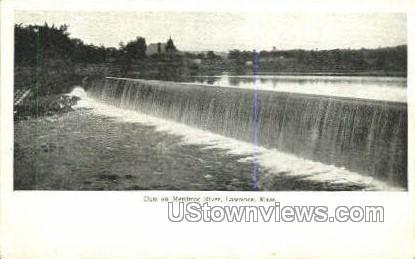Dam, Merrimac River - Lawrence, Massachusetts MA Postcard