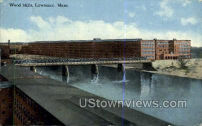 Wood Mills - Lawrence, Massachusetts MA Postcard