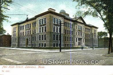 New High School - Lawrence, Massachusetts MA Postcard