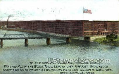 The New Wood Mill - Lawrence, Massachusetts MA Postcard
