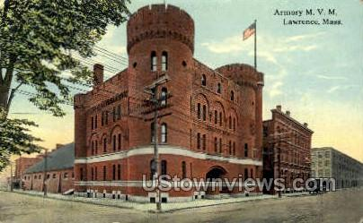 Armory - Lawrence, Massachusetts MA Postcard