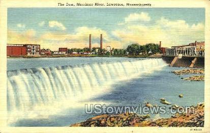 The Dam, Merrimac River - Lawrence, Massachusetts MA Postcard