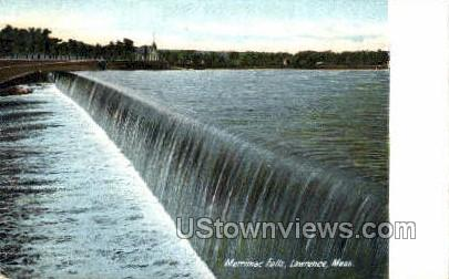 Merrimac Falls - Lawrence, Massachusetts MA Postcard