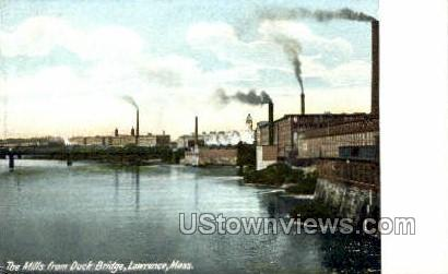 The Mills - Lawrence, Massachusetts MA Postcard
