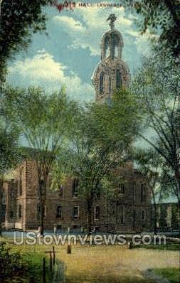 Hall - Lawrence, Massachusetts MA Postcard
