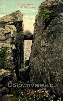 Boulder, Den Rock - Lawrence, Massachusetts MA Postcard