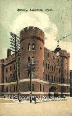 Armory - Lawrence, Massachusetts MA Postcard