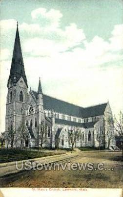St. Mary's Church - Lawrence, Massachusetts MA Postcard