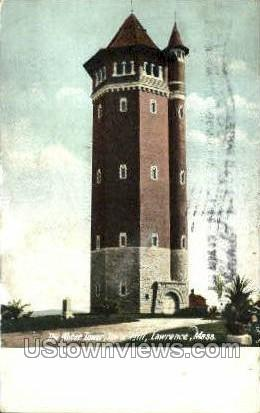 The Water Tower, Tower Hill - Lawrence, Massachusetts MA Postcard