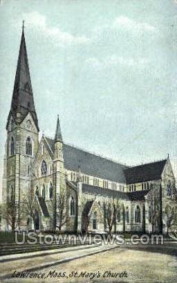 St. Mary's Church - Lawrence, Massachusetts MA Postcard