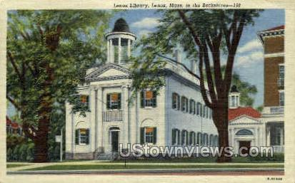 Lenox Library - Massachusetts MA Postcard