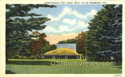 Opera-Concert Hall - Lenox, Massachusetts MA Postcard