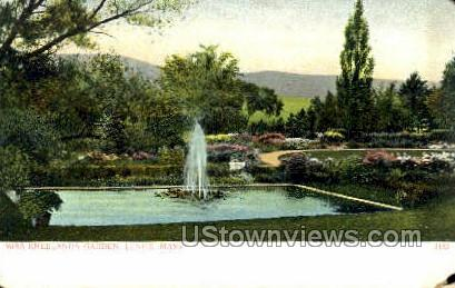 Miss Kneelands Garden - Lenox, Massachusetts MA Postcard